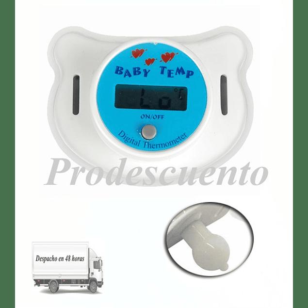 Chupete termómetro digital