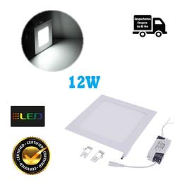 Foco Panel Embutido Cuadrado 12w Luz Fria