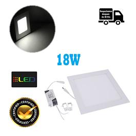 Foco Panel Embutido Cuadrado 18w Luz Neutro