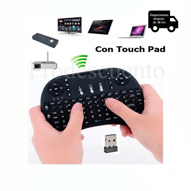 Mini Teclado Inalambrico Touchpad Smarttv Pc Usb