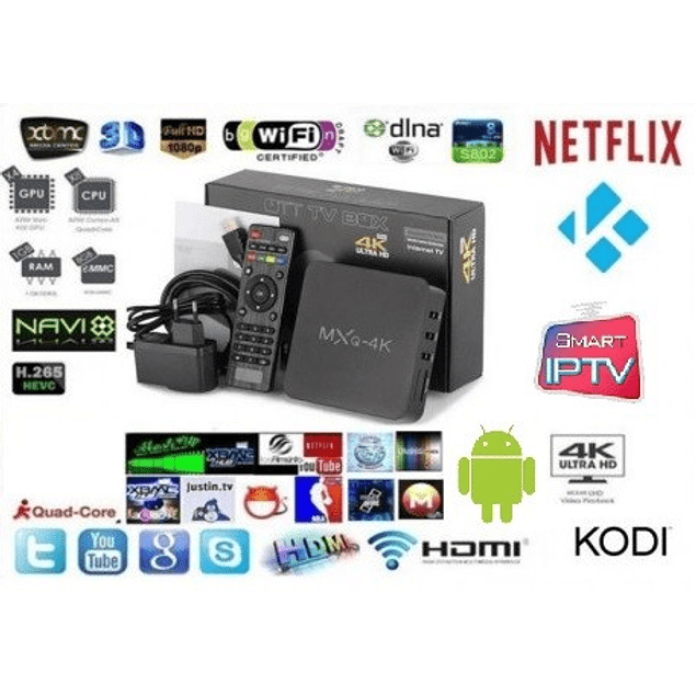 Smart Tv Box Mxq Pro 4k Android 6.0 Netflix Kodi Iptv