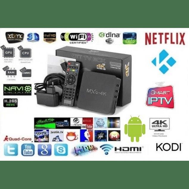 Smart Tv Box Mxq Pro 4k Android 6.0 Netflix Kodi Iptv
