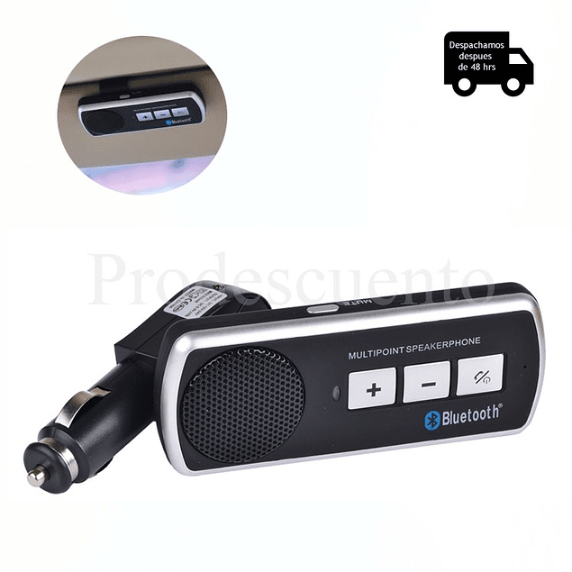Manos Libres Para Autos Bluetooth Con Altavoz