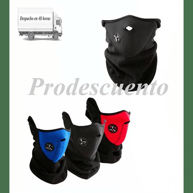 Mascara de Moto Neopreno Con Cuello Polar