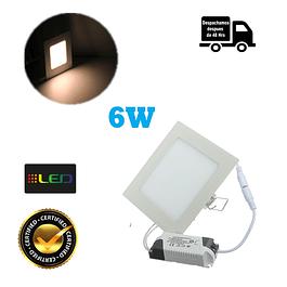 Foco Panel Embutido Cuadrado 6w Luz Calida