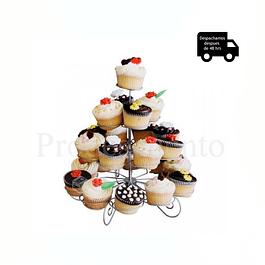 Porta cupcakes Metalico 23 unidades