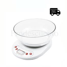 Pesa Digital gramera con recipiente pesa hasta 5 kilos
