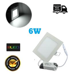 Foco Panel Embutido Cuadrado 6w Luz Fria