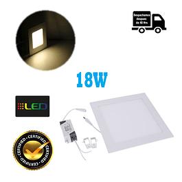 Foco Panel Embutido Cuadrado 18w Luz Calida