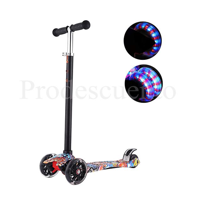 Monopatín Scooter Led