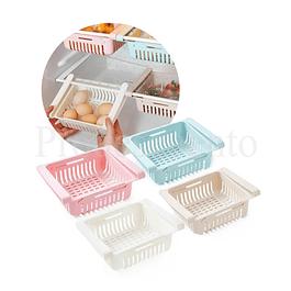 Set De 4 Cajones Organizadores Ajustables Para Refrigerador