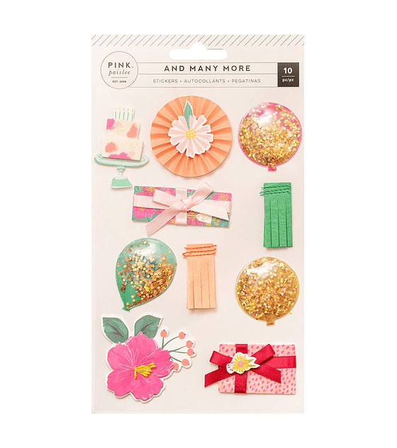 LAYERED STICKERS WITH GLITTER  - AND MANY MORE