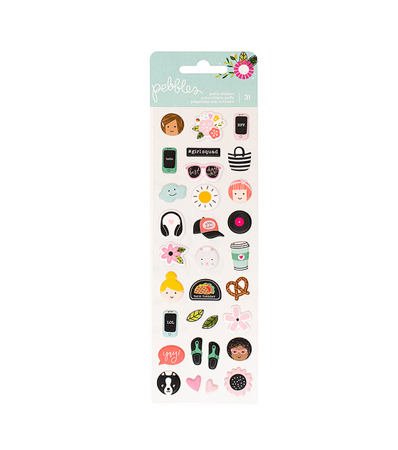 PUFFY STICKERS - GIRL SQUAD - PEBBLES