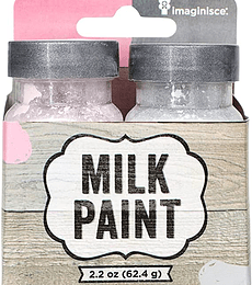 MILK PAINT - PASTEL PINK AND LIGHT GRAY
