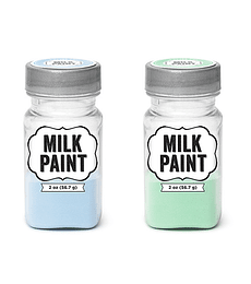 MILK PAINT PASTEL BLUE AND PASTEL GREEN