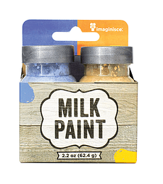 MILK PAINT BLUE AND YELLOW