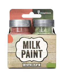 MILK PAINT - RED AND GREEN