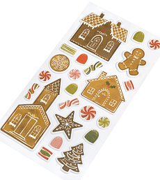PUFFY STICKERS  -TOGETHER FOR CHRISTMAS - PINK PAISLEE