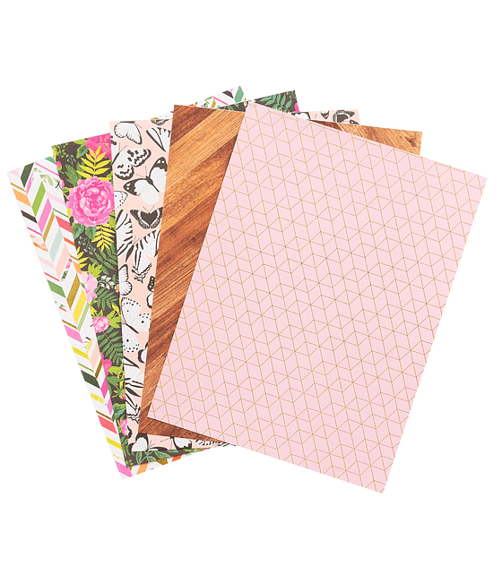 """PAPER PAD -  5TH AND MONACO - 6"""" X 8"""" PINK PAISLEE"""