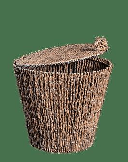 Papelera redonda con tapa