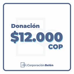 Donación $12.000 COP
