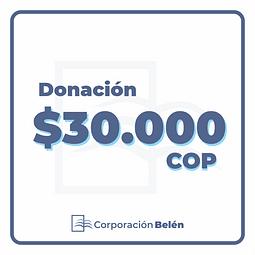 Donación $30.000 COP