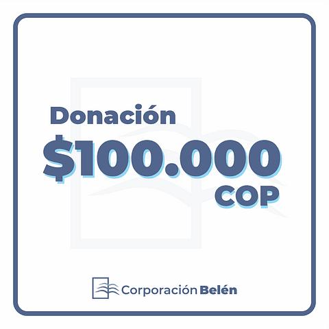 Donación $100.000 COP