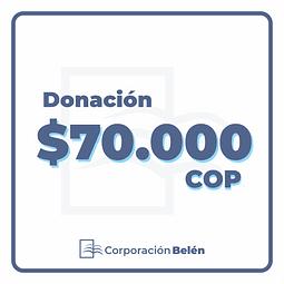 Donación $70.000 COP