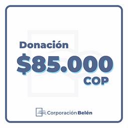 Donación $85.000 COP