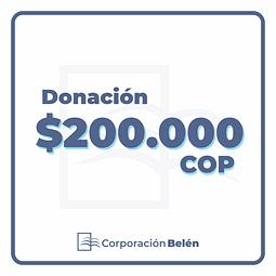 Donación $200.000 COP