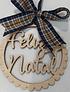 Placa Choupo Feliz Natal