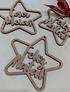 Estrela MDF Feliz Natal S