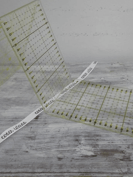 Régua de patchwork desdobrável (15x60cm)