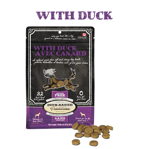 OVEN BAKED DUCK DOG TREATS