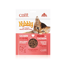 CATIT NIBBLY SNACK SALMON 90G