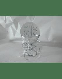 C17303- Cálice prata decorado com hóstia gigante