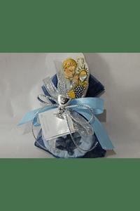 C17305 - Saco organza decorada com placa menino comunhão