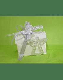 C17308 - Bau cartão decorado com anjo metal