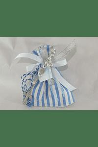 C17314 Saco riscos azul decorado com dezena
