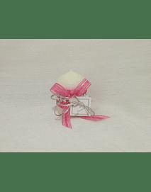 C14049 - Vela decorada rosa fuchsia com brilhantes