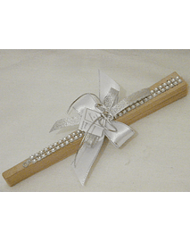 C14054 - Leque madeira decorado com brilhantes