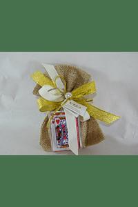 C17609 Saco sarapilheira com porta chave cartas