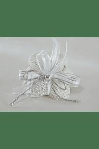 C17003 Frasquinho de mel decorado com coração de viana