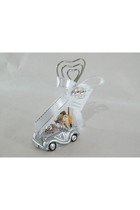 C17005 Carrinho com clip coração decorado