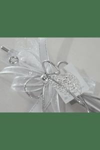 C17007 Caneta prata decorada com coração de Viana
