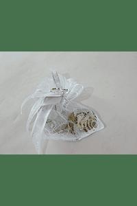 C17008 Saco rendilhado com suporte para bolsa decorado
