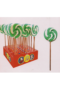 H4203 Lolly espiral verde/branco
