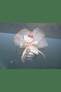 C2230 - Tule com bombom decorado com Hello Kity