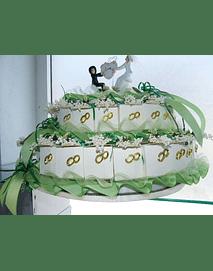 C6003 - Estrutura de bolo de 3 andares