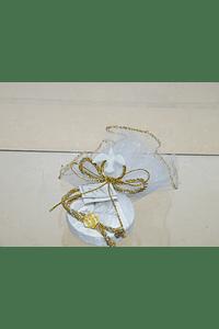 C1986 - Trouxa de tule com aliança pomba